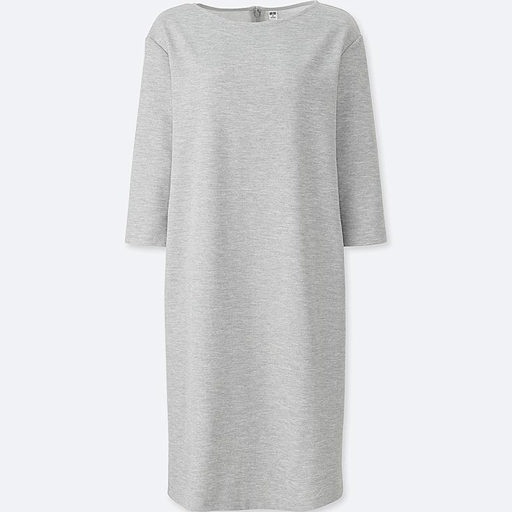 WOMEN Milano Ribbed 3/4 Sleeve Dress