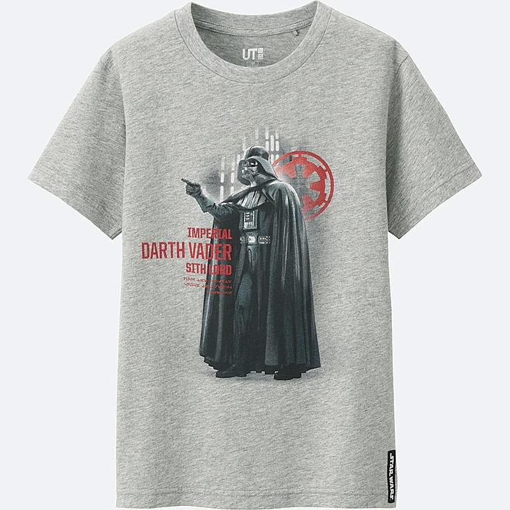 KIDS STAR WARS SHORT SLEEVE GRAPHIC T-Shirt, GRAY, large