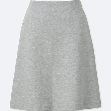 WOMEN HIGH WAIST FLARE MINI SKIRT, GRAY, medium