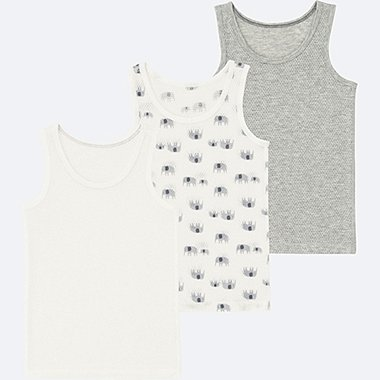 TODDLER Mesh Inner Tank Top 3 Pack