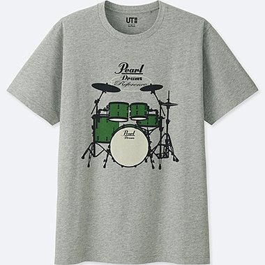 THE BRANDS SHORT-SLEEVE GRAPHIC T-SHIRT (PEARL DRUM), GRAY, medium