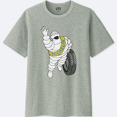 THE BRANDS SHORT-SLEEVE GRAPHIC T-SHIRT (MICHELIN), GRAY, medium