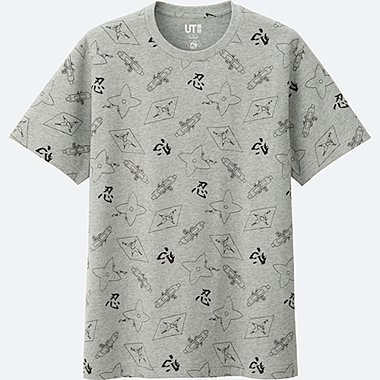 OMIYAGE SHORT SLEEVE GRAPHIC T-SHIRT, GRAY, medium