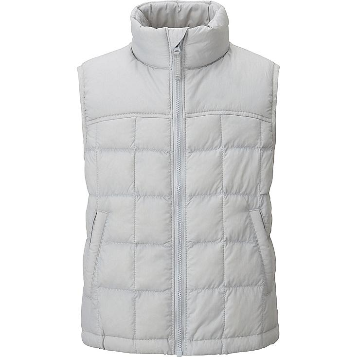BOYS LIGHT WARM PADDED VEST, GRAY, large