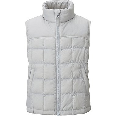 BOYS LIGHT WARM PADDED VEST, GRAY, medium