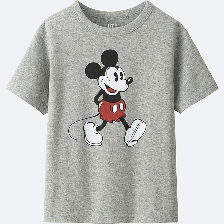 BOYS DISNEY COLLECTION SHORT SLEEVE GRAPHIC TEES, GRAY, large