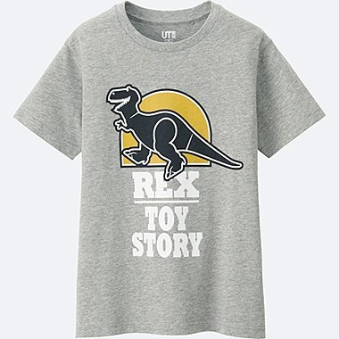 BOYS PIXAR SHORT SLEEVE GRAPHIC TEES, GRAY, medium