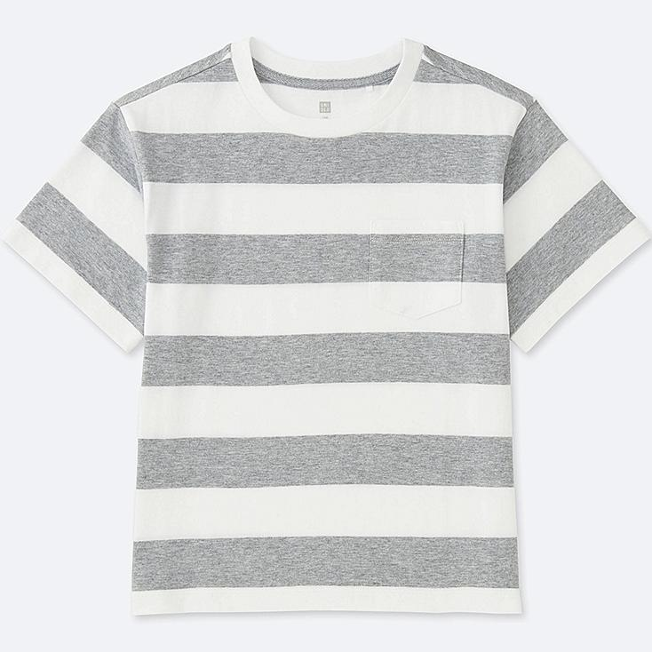 BOYS Striped Pocket Crew Neck Short Sleeve T-Shirt