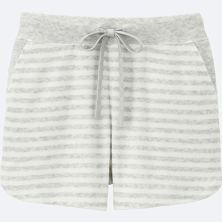 WOMEN AIRism Pile Lounge Shorts (Stripe)