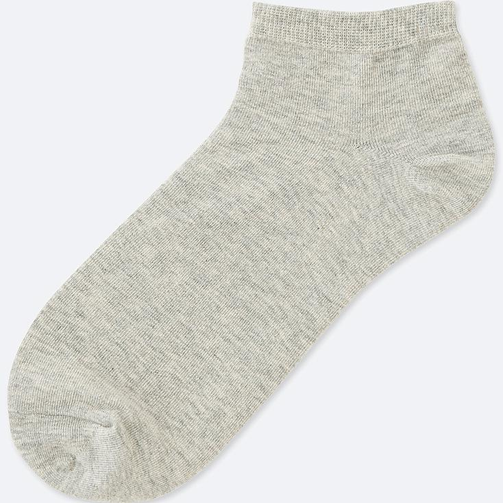 WOMEN SHORT SOCKS, GRAY, large