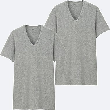 MEN Supima Cotton Rib T-Shirt (Short Sleeve) 2 Pack