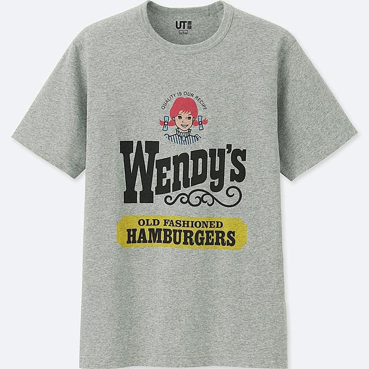 MEN THE BRANDS SHORT-SLEEVE GRAPHIC T-SHIRT (WENDY'S), GRAY, large