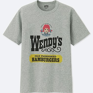 MEN THE BRANDS SHORT-SLEEVE GRAPHIC T-SHIRT (WENDYS), GRAY, medium