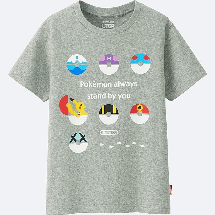 KIDS UTGP (NINTENDO) SHORT-SLEEVE GRAPHIC T-SHIRT, GRAY, large