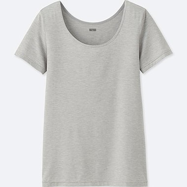 WOMEN HEATTECH SCOOP NECK T-SHIRT