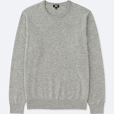 MEN CASHMERE CREW NECK LONG SLEEVE SWEATER