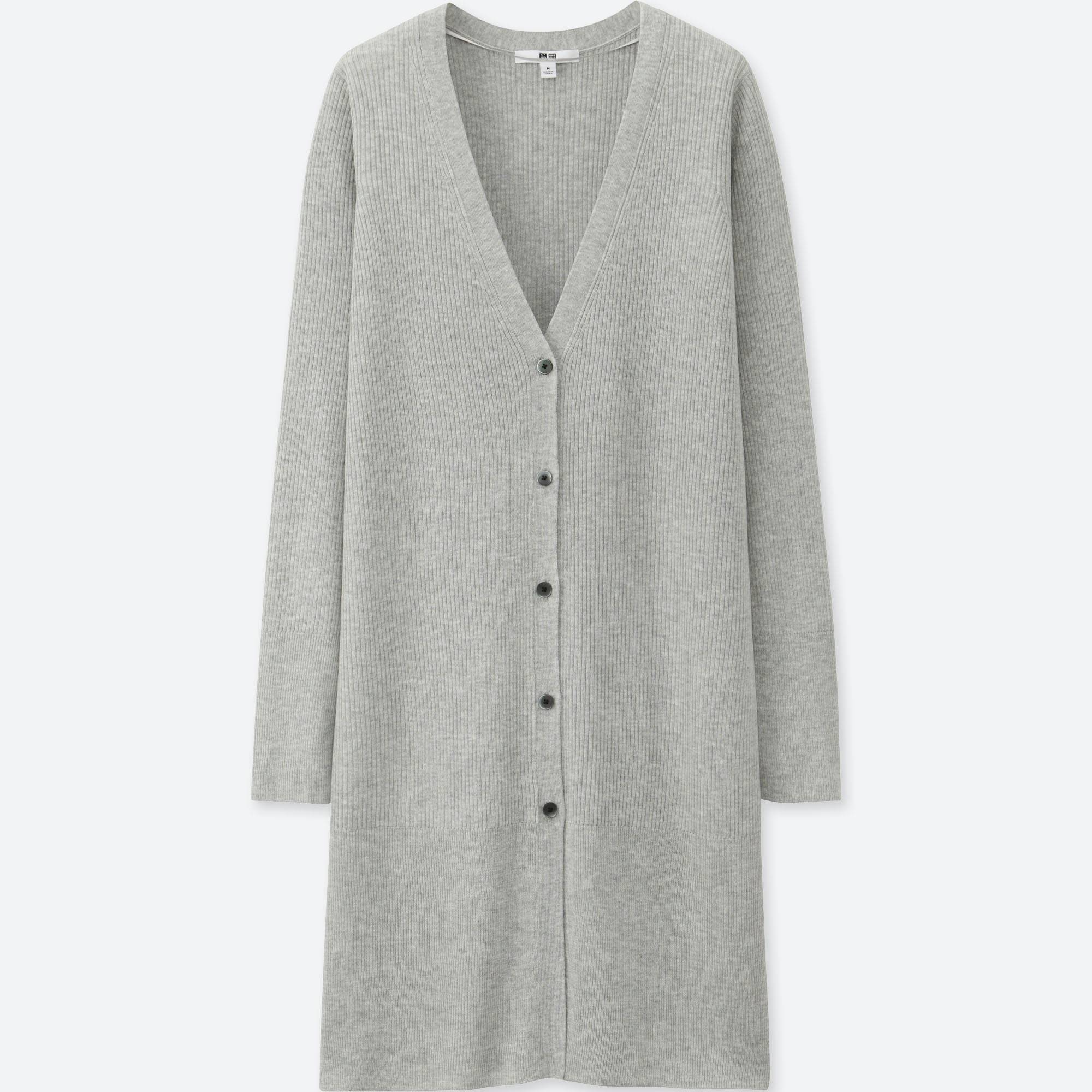 WOMEN RIBBED V-NECK LONG CARDIGAN | UNIQLO US