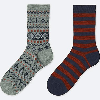 BOYS 2 PAIR HEATTECH SOCKS