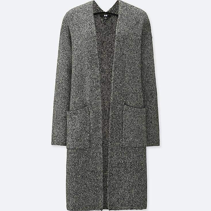 DAMEN STRICKMANTEL (tweed)