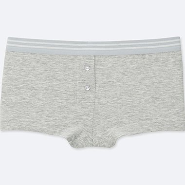 WOMEN BOY SHORTS, GRAY, medium