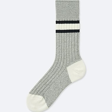 MEN HEATTECH RIB LINE SOCKS