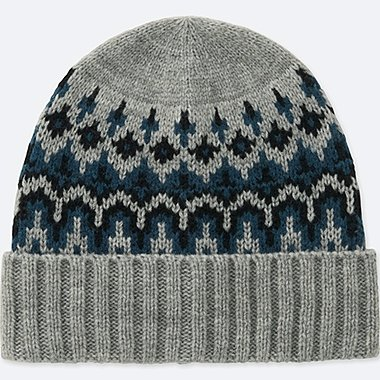 KIDS HEATTECH KNITTED CAP, GRAY, medium