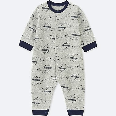 BABIES NEWBORN QUILTED LONG SLEEVE ONE PIECE OUTFIT