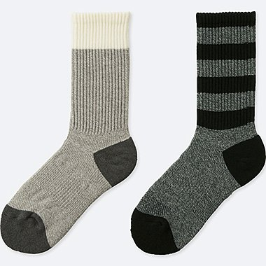 WOMEN HEATTECH SPORT SOCKS (2 PAIRS), GRAY, medium
