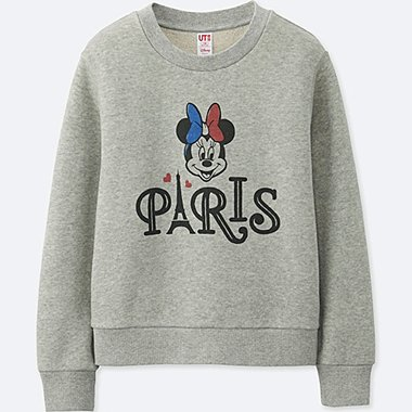 GIRLS MICKEY TRAVELS GRAPHIC SWEATSHIRT, GRAY, medium