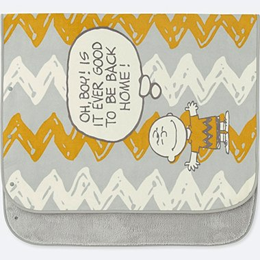 PEANUTS FLEECE BLANKET, GRAY, medium