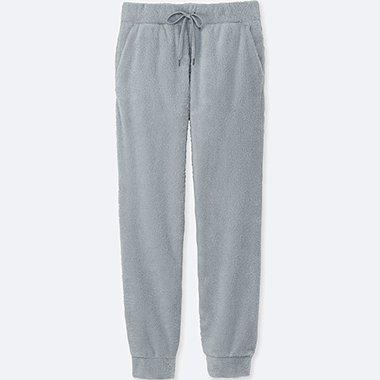 MEN FLEECE EASY PANTS, GRAY, medium