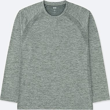MEN DRY-EX LONG SLEEVE CREW NECK T-SHIRT