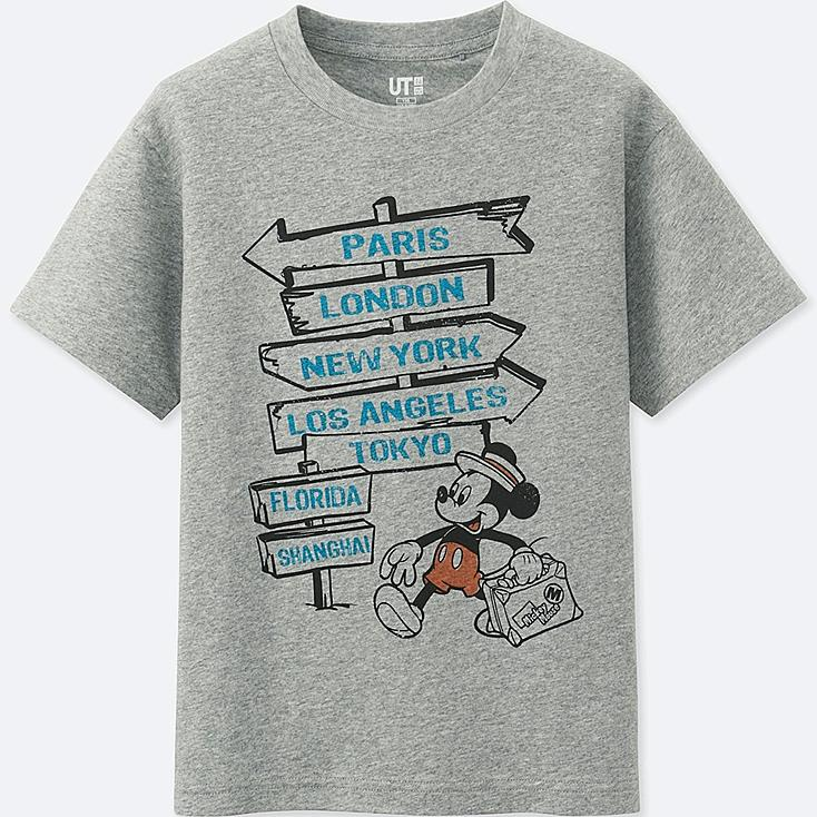 BOYS MICKEY TRAVELS SHORT-SLEEVE GRAPHIC T-SHIRT, GRAY, large