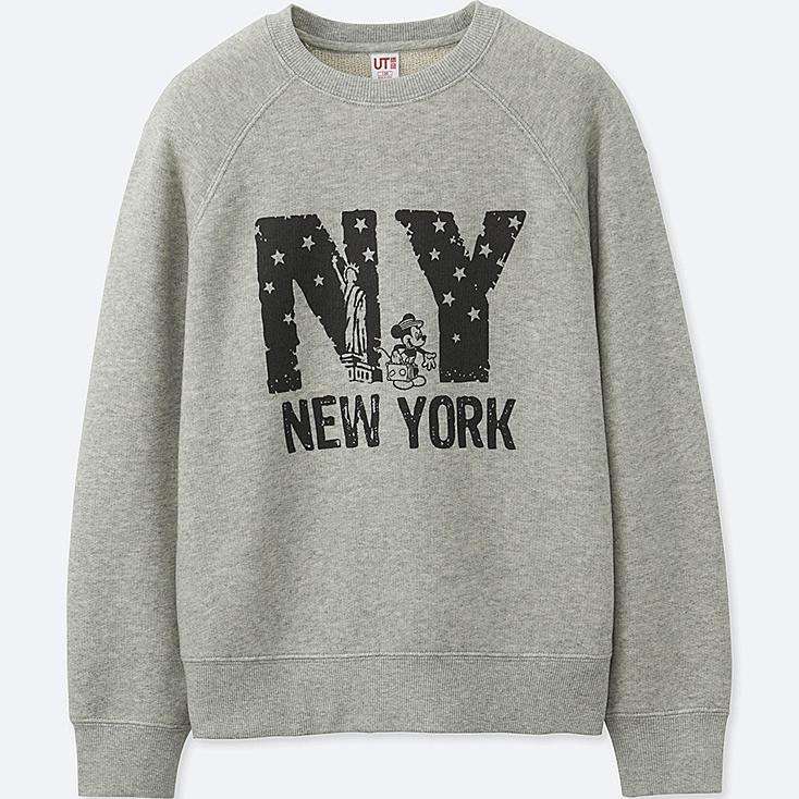 BOYS MICKEY TRAVELS GRAPHIC SWEATSHIRT, GRAY, large