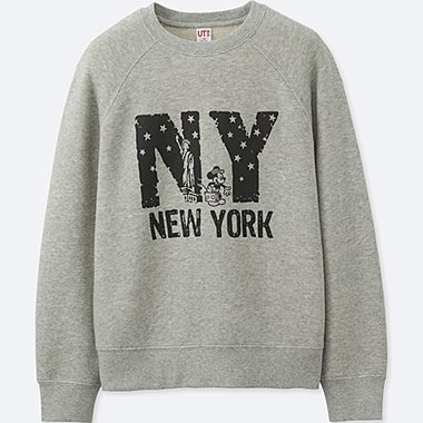 BOYS MICKEY TRAVELS GRAPHIC SWEATSHIRT, GRAY, medium