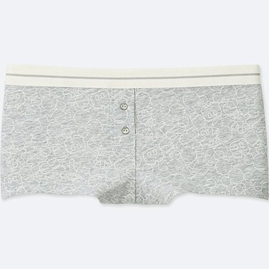 WOMEN DISNEY BOY SHORTS, GRAY, medium