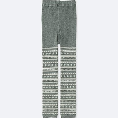 GIRLS KNITTED LEGGINGS, GRAY, medium