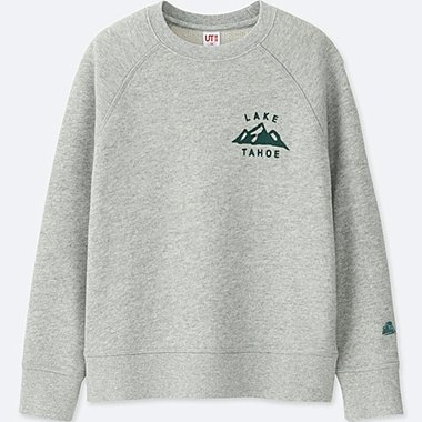 KIDS CALIFORNIA MEMORIES SWEATSHIRT, GRAY, medium
