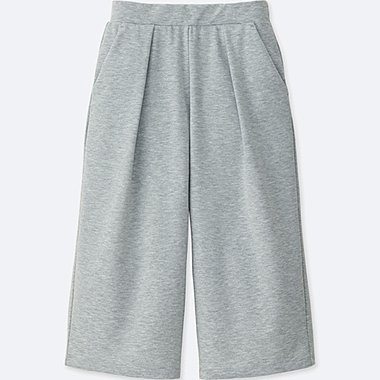 WOMEN AIRism WIDE CROPPED TROUSERS