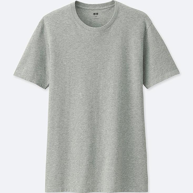 MEN SUPIMA® COTTON CREW NECK SHORT-SLEEVE T-SHIRT, GRAY, large