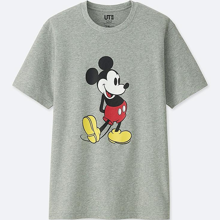 MICKEY STANDS UT (SHORT SLEEVE GRAPHIC T-SHIRT), GRAY, large