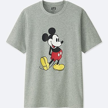 MICKEY STANDS SHORT-SLEEVE GRAPHIC T-SHIRT, GRAY, medium