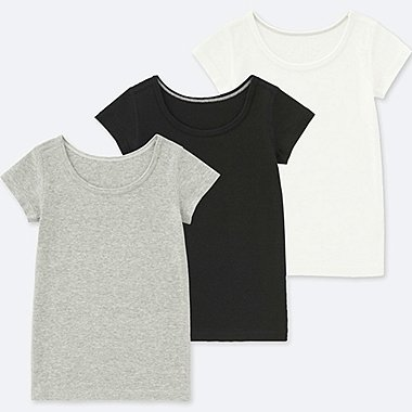 TODDLER COTTON INNER SHORT-SLEEVE T-SHIRT (SET OF 3), GRAY, medium