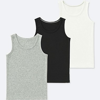 TODDLER COTTON INNER TANK TOP (SET OF 3), GRAY, medium