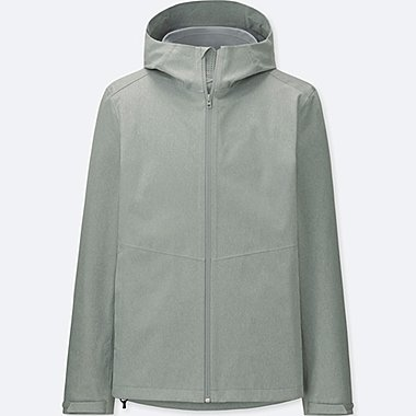 MEN BLOCKTECH RAINCOAT HOODED PARKA