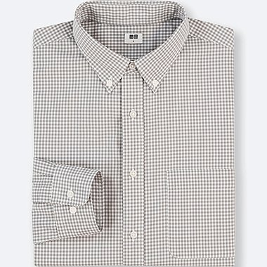 MEN EXTRA FINE COTTON CHECKED LONG SLEEVE SHIRT