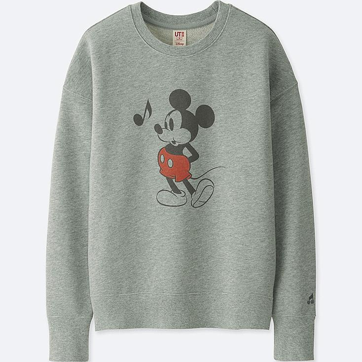 WOMEN SOUNDS OF DISNEY LONG-SLEEVE PULLOVER SWEATSHIRT, GRAY, large