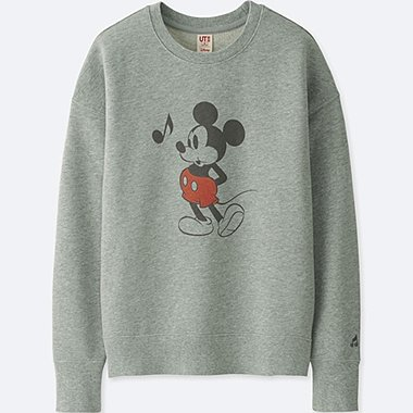 WOMEN SOUNDS OF DISNEY LONG-SLEEVE PULLOVER SWEATSHIRT, GRAY, medium