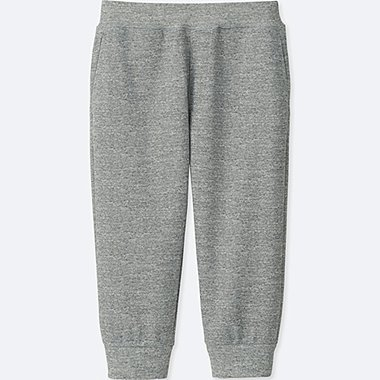 KIDS DRY-EX CROPPED PANTS, GRAY, medium