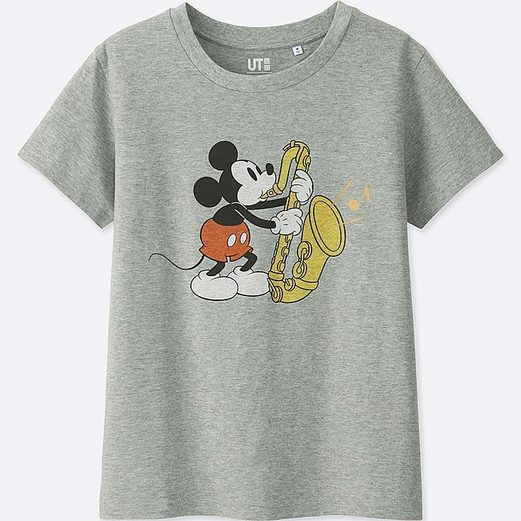 WOMEN SOUNDS OF DISNEY SHORT-SLEEVE GRAPHIC T-SHIRT, GRAY, large